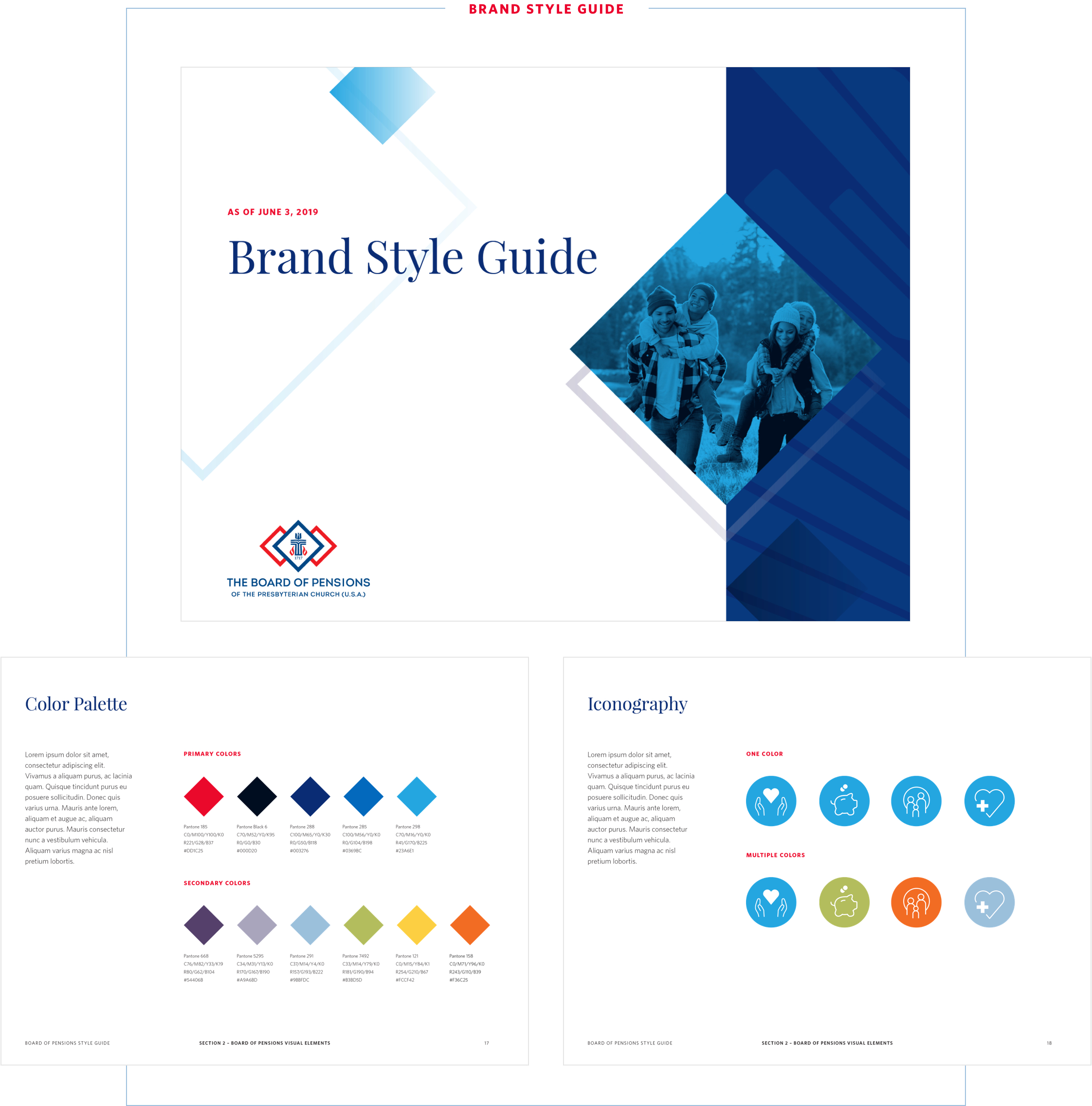 Style guide created by Eastern Standard for Board of Pensions