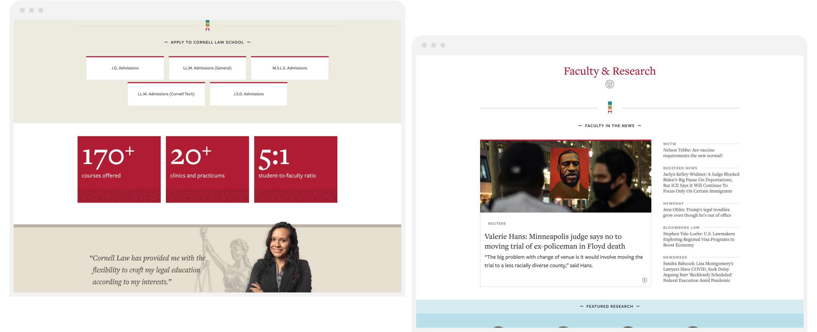 New components on the Cornell Law website