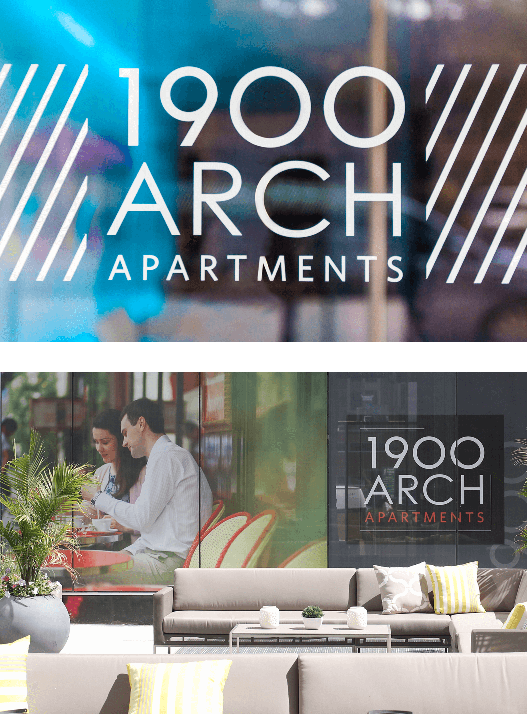 signs for 1900 Arch Apartments