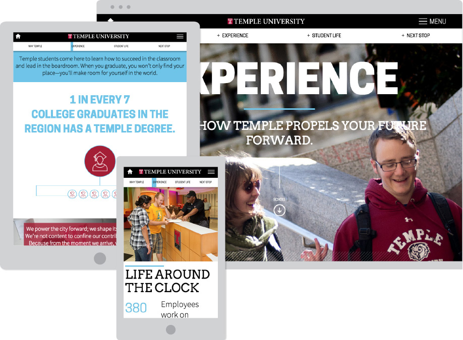 Temple University Interactive Viewbook Sample